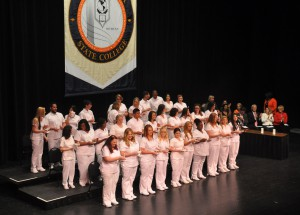 SFSC Nursing Grads Assembled on Stage