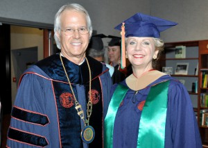 Dr. Thomas C. Leitzel and Martile Blackman.