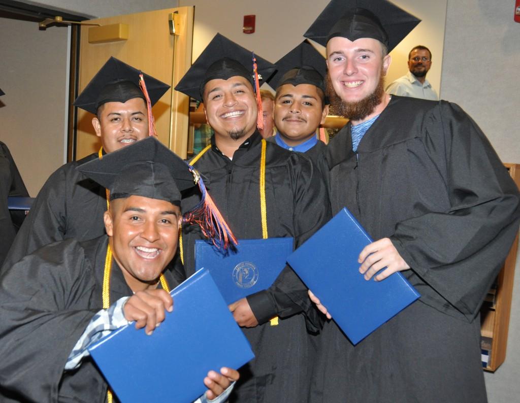 Hardee Electrical Lineman Graduates are: From left:  Regino Cisneros, Armando Alvarez, Jonathan Martinez, Roman Alvarez, and Dillon Cloud
