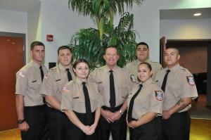 From left: Timothy Duxbury, James G. Ford, Crystal M. Burns, James S. Sottile, Maribel Gonzalez, Salvador Gonzalez, and Eduardo Garcia.