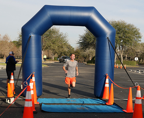 Dylan Branch wins the seventh annual SFSC Panther 5K Run/Walk