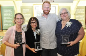 Three SFSC employees received special thanks for the dedication to students. From left, Kathy Futral, Mollie Doctrow, Max Gooding, and Mary Wolf.