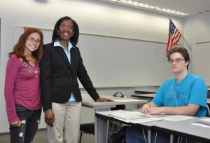 Dr. Nicholas with sociology students.