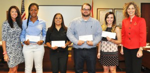 From left, Tami Cullens, SFSC District Board of Trustees, Radiography students Toi Reaves, Melissa Hernandez, Derek Whitten, and Rachel Ohly, and Jamie Bateman, SFSC Foundation executive director.