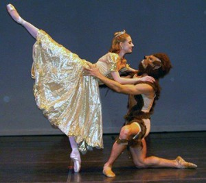 Two dancers in Beauty and the Beast