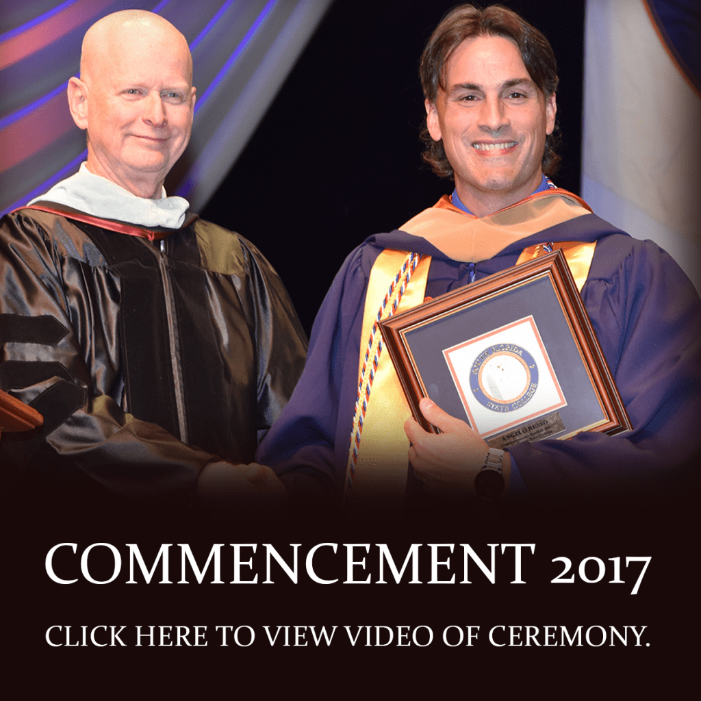Fall Commencement 2017. Click here to view video of ceremony.