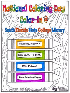 Library Celebrates National Coloring Book Day On Aug 2