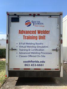 Back of Mobile Welding Trailer