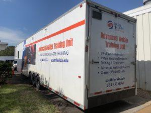 Side of Mobile Welding Trailer