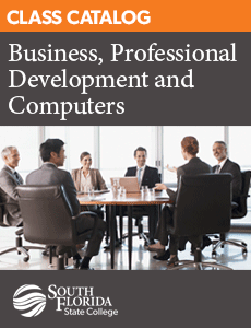 PDF catalog for Corporate Education classes in business, professional development, and computers.