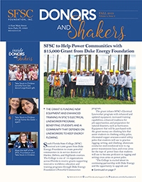 Click here to access a PDF of the SFSC Foundation's fall 2019 newsletter.