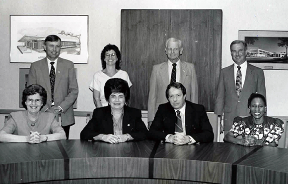 Photo of District Board of Trustees from 1992 or 1993