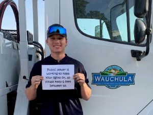 Electrical Lineworker Program - Jacob Bateman on the job at the City of Wauchula