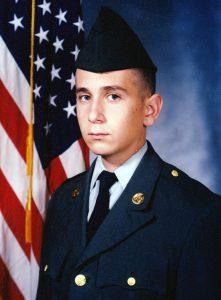 Ed Lohrer as a new U.S. Army recruit