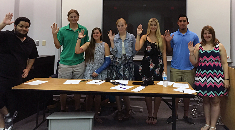 SGA Officers are Sworn In