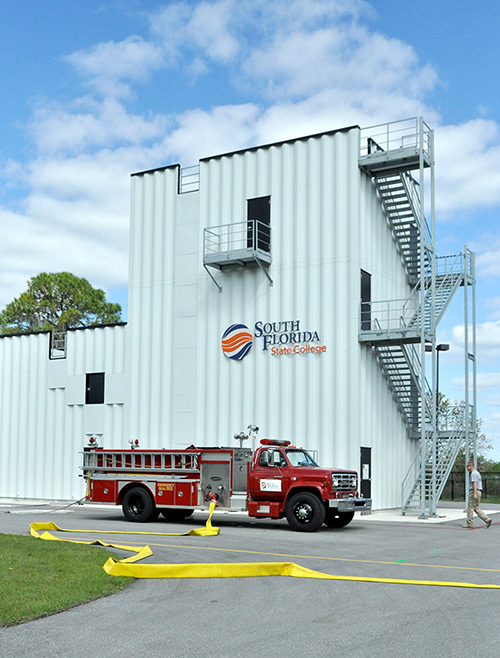 South Florida State College's Fire Sciences Burn Tower