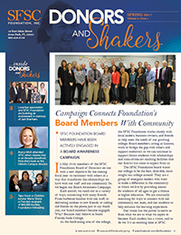 PDF Donors and Shakers Newsletter. Spring 2017.
