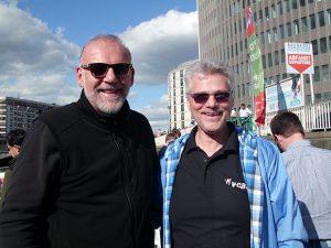 Erik Christensen with his instructor Burkhard Colditz