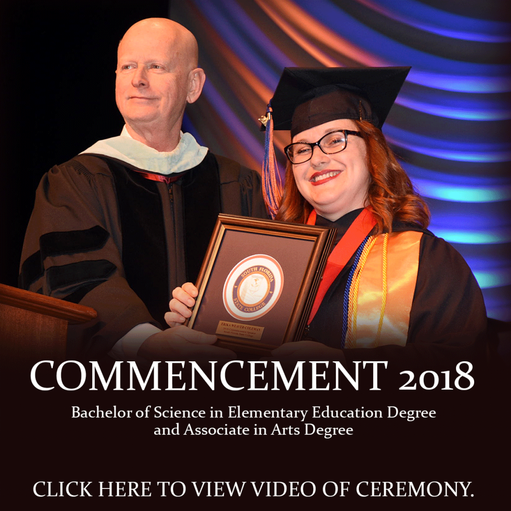 Commencement 2018. Bachelor's Degree in Elementary Education and Associate in Arts Degree. Click here to view a video of the ceremony.