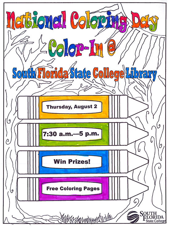 Library Celebrates National Coloring Book Day on Aug. 2 - South ...