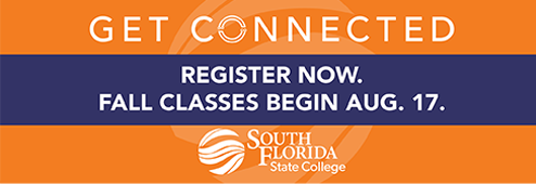 Get connected. Register now. Fall classes begin Aug. 17.